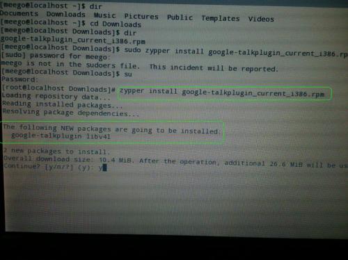 Pantallazo instalación Google chat y vídeo
