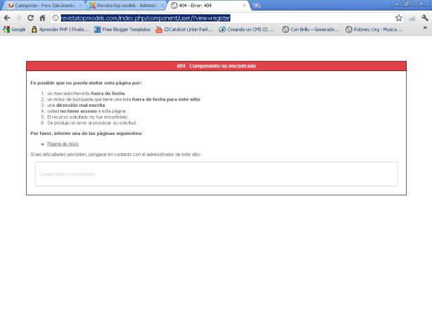 """Error 404 en Virtuemart 2.0, se trataría de un """"bug"""""""