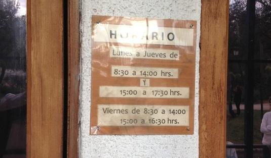 Horario Biblioteca Maipu