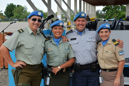 Eduardo Suarez, Osiris, Pascal and Claudia, United Nations Peacekeers