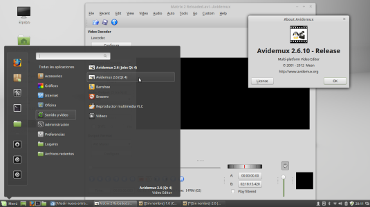 Instalar avidemux 2.6.10 en Linux Mint basado en Ubuntu